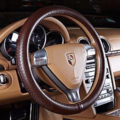 billige Rattovertrekk til bilen-Rattovertrekk til bilen ekte lær 38 cm Svart / Beige / kaffe Til Ford Alle Modeller Alle år