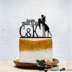 קישוטים לעוגה חתונה בעלי חיים נושא קלאסי חתונה תיק פולי
