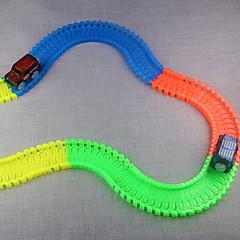 olcso -Vágány vasúti kocsi Játékautók Klasszikus autó Játékok Újdonság Foszforeszkáló Világítás DIY Fénycső Gyermek Darabok