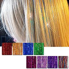 tanie Peruki syntetyczne-Przedłużanie włosów Prosto Klasyczny Cross Type Codzienny Wysoka jakość Przedłużenia z naturalnych włosów