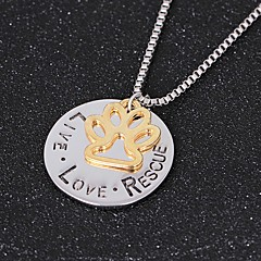 Women's Pendant Necklaces Circle Four Prongs Alloy Love Fashion Jewelry For Birthday Gift