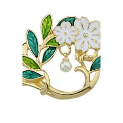 billige Motebrosjer-Dame Nåler - Perle Blad Formet, Blomst Mote, søt stil Brosje Gull Til Daglig / Avslappet