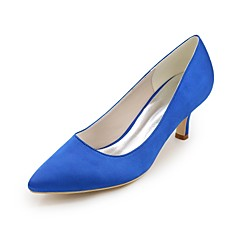 cheap Wedding Shoes-Women's Shoes Satin Spring Summer Basic Pump Wedding Shoes Stiletto Heel Pointed Toe for Wedding Party & Evening Purple Red Blue