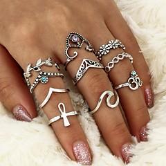billige Motering-Dame Krystall Geometrisk Ring - Krystall, Legering Blad Formet, Bølge Geometrisk, Kryss En størrelse Sølv Til Avslappet / Formell