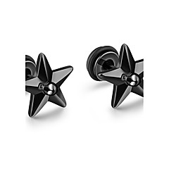 בגדי ריקוד גברים עגילים צמודים אופנתי Rock פלדת טיטניום Star Shape תכשיטים עבור יומי קזו'אל