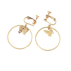 cheap Earrings-Women's Butterfly Clip Earrings - Personalized / Fashion Gold / Silver Circle Earrings For Daily / Casual