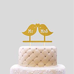 billige Kakedekorasjoner-Kakepynt Bryllup Hjerter Papir Bryllup med 1 PVC Veske