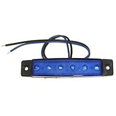 Sencart 12pcs 6LED 2835SMD Blue Lamp Brake Side Marker Car of  Motorcycle Indicators DC12V