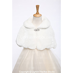 cheap Party Accessories-Faux Fur Wedding / Party / Evening Kids' Wraps With Rhinestone Capelets