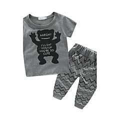baratos Roupas de Meninos-Bébé / Bebê Para Meninos Desenho Estampado Manga Curta Algodão Conjunto