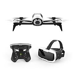 billige Fjernstyrte quadcoptere og multirotorer-RC Drone Bebop 2.0 Drone with FPV Goggles 4 Kanaler 3 Akse 2.4G WIFI Med HD-kamera 1080P Fjernstyrt quadkopter WIFI FPV En Tast For Retur
