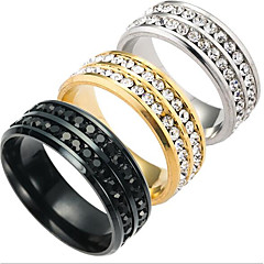 cheap Rings-Men's Others Band Ring - Fashion Gold / Black / Silver Ring For Daily