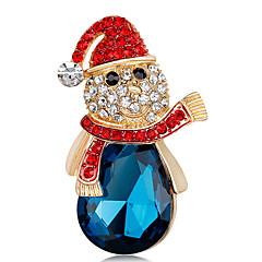 Dámské Brože imitace drahokamu Vánoční Módní Slitina Šperky Šperky Pro Vánoce