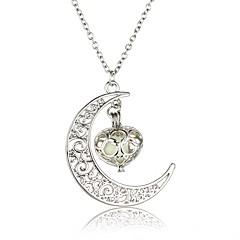 cheap Men's Necklaces-Men's Women's Luminous Stone Pendant Necklace - Statement, Rock, Luminous Luminous Silver Necklace Jewelry For Wedding, Halloween, Masquerade, Engagement Party, Prom, Club
