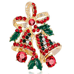 Women's Brooches Synthetic Diamond Chrismas Alloy Flower Jewelry For Christmas