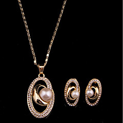 cheap Jewelry Sets-Women's Imitation Pearl Jewelry Set Earrings Necklace - Gold For Wedding Party
