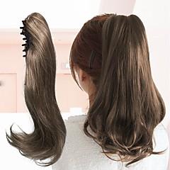billiga Peruker och hårförlängning-Klämma in Hästsvans Färg GradientHigh Quality Hög kvalitet Färgskiftande Syntetiskt hår Hårstycke HÅRFÖRLÄNGNING Spännen Klassisk Dagligen