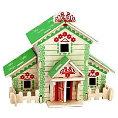preiswerte -3D - Puzzle Holzpuzzle Holzmodelle Modellbausätze Häuser Mode Haus Klassisch Mode Neues Design Heimwerken Schlussverkauf Holz 1pcs Modern