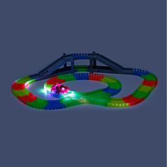 olcso -Játék Race Car & pálya szettek Versenyautó Bányagépek: frontfejtés Játékok Foszforeszkáló LED Világítás DIY Elektromos Fénycső Fiúk 166