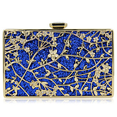 cheap Wedding Shoes-Women's Bags Metal Evening Bag Sequin / Flower for Wedding / Event / Party Gold / Black / Red