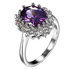 levne -Pánské Dámské Boxer Zásnubní prsten Kubický zirkon Zirkon Měď Round Shape Šperky Pro Svatební Párty Narozeniny Zásnuby