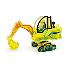 3D Puzzles Excavator Toys Excavating Machinery Vehicles Cartoon Design Kids 1 Pieces