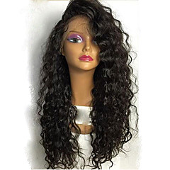 billiga Peruker och hårförlängning-Äkta hår Spetsfront Peruk Brasilianskt hår Löst vågigt Frisyr i lager Bob-frisyr Med babyhår Med lugg 130% Densitet obearbetade 100%