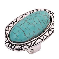 Naisten Kokosormen sormus Turkoosi Personoitu Classic Turkoosi Metalliseos Oval Shape Korut Käyttötarkoitus Kausaliteetti Näyttämö