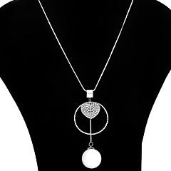 Mulheres Coração Flor Colar de Fios colares em camadas Imitação de Pérola Liga Colar de Fios colares em camadas , Festa Diário