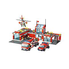 Bausteine Feuerwehrauto Helikopter Spielzeuge Flugzeug Helikopter Architektur Fahrzeuge Jungen 774 Stücke