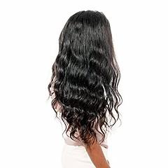billiga Peruker och hårförlängning-Remy-hår 360 Fasad Peruk Brasilianskt hår Vågigt 360 Frontal Peruk 150% 180% Hårtäthet med babyhår Naturlig hårlinje Dam Korta Mellan Lång Äkta peruker med hätta Premierwigs