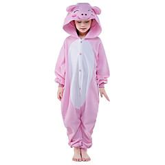 Pyjama Kigurumi  Porcelet / Cochon Combinaison Pyjamas Costume Polaire Rose Cosplay Pour Enfant Pyjamas Animale Dessin animé Halloween