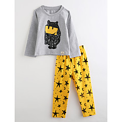 billige Undertøj og sokker til drenge-Baby Drenge Tegneserie Langærmet Bomuld Nattøj