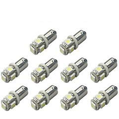 10pcs ba9s 5050smd 5 beyaz renkli araba ampul lamba araba elektronik eşyalar genişlik lamba dc12v