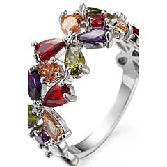 男性用 女性用 ナックリリング 婚約指輪 キュービックジルコニア ジルコン 銅 フラワー ジュエリー 用途 結婚式 パーティー 誕生日 婚約