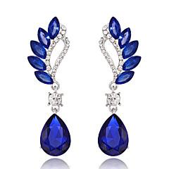 Dámské Visací náušnice imitace drahokamu Akrylát Slitina Kapka Šperky Pro Svatební Párty