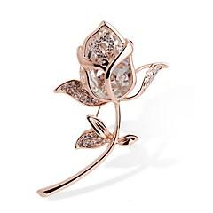 billige Motebrosjer-Dame Nåler Krystall Syntetisk Diamant Strass Legering Kvadrat Gull Smykker Til Gave Seremoni