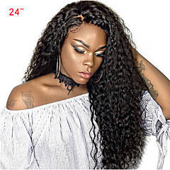 cheap Wigs & Hair Pieces-Human Hair Lace Front Wig Brazilian Hair Curly Weave Wig Side Part with Baby Hair 250% Density Women's Medium Length Human Hair Lace Wig SunnyQueen