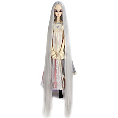cheap Wigs & Hair Pieces-Synthetic Wig Women's kinky Straight Gray Synthetic Hair Gray Wig Very Long Capless Silver miss u hair / Doll Wig