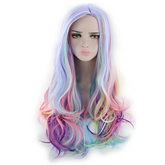 cheap Wigs & Hair Pieces-women synthetic wig capless long wavy natural wave deep wave rainbow lolita wig party wig halloween wig cosplay wig costume wig Halloween