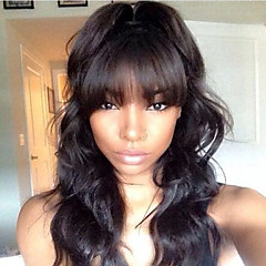 cheap Human Hair Wigs-Human Hair Lace Front Wig Brazilian Hair Natural Wave Layered Haircut Bob Haircut 150% Density With Baby Hair Unprocessed Natural Hairline
