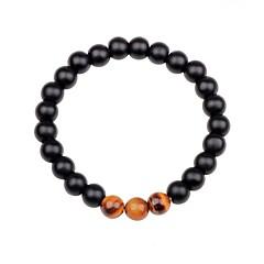 abordables -Homme Femme Bracelets de rive Multi-pierre Obsidienne Coloré Agate Forme de Cercle Bijoux Cadeau Sortie Bijoux de fantaisie Blanc Noir