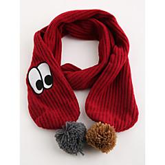 baratos Acessórios para Crianças-Unisexo Cachecóis Inverno Acrílico Vermelho Cinzento Escuro
