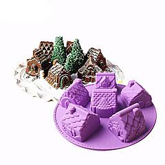 billige Bakeredskap-Bakeware verktøy Silikon Gummi / silica Gel / Silikon baking Tool / Non-Stick / GDS Brød / Kake / Is Cake Moulds 1pc