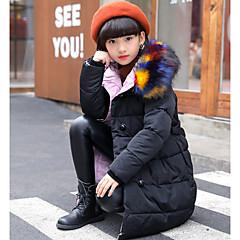 tanie Odzież dla dziewczynek-Dzieci Dla dziewczynek Solidne kolory Odzież puchowa / pikowana