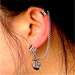 Női Klipszes fülbevalók Fül Mandzsetta Vintage Alkalmi Méretes ékszerek Menő Divat Ötvözet Geometric Shape Line Shape Horgony Ékszerek
