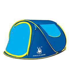 billige Telt og ly-GAZELLE OUTDOORS 2 personer Kanapetelt Strandtelt Skjermtelt Telt Enkelt camping Tent Ett Rom Automatisk Telt Enkel å installere til