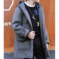 tanie Odzież dla chłopców-Dzieci Dla chłopców Jendolity kolor Długi rękaw Trencz