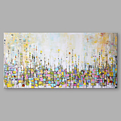 cheap Wall Art-Oil Painting Hand Painted - Abstract Modern Stretched Canvas