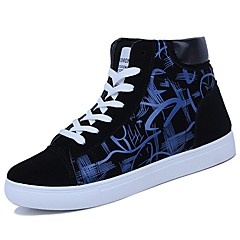 Men's Shoes PU Spring Fall Comfort Sneakers Null Null / For Casual Black/White Black/Red Black/Blue